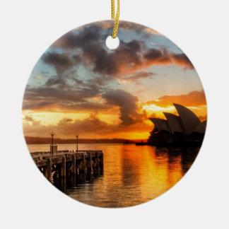 Théatre de l'opéra de Sydney de l'Australie au Ornement Rond En Céramique