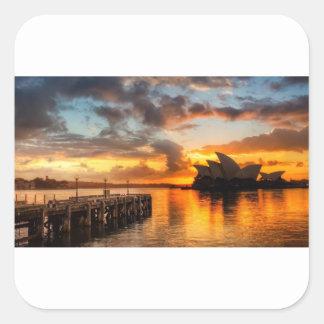 Théatre de l'opéra de Sydney de l'Australie au Sticker Carré