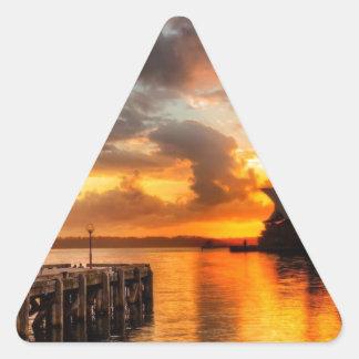 Théatre de l'opéra de Sydney de l'Australie au Sticker Triangulaire
