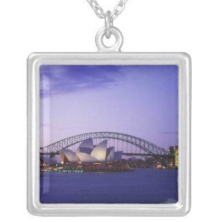 Théatre de l'opéra de Sydney et port, nouveau sud Pendentif Carré