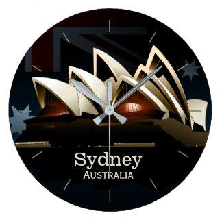 Théatre de l'opéra de Sydney la nuit Grande Horloge Ronde