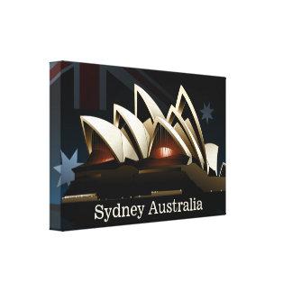 Théatre de l'opéra de Sydney la nuit Toile
