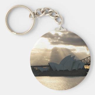 Théatre de l'opéra de Sydney Porte-clé Rond