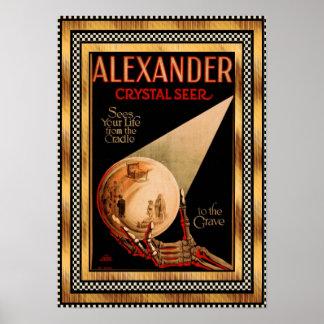 Théâtre en cristal vintage de scombre d'Alexandre Posters