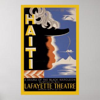 Théâtre fédéral vintage du Haïti Harlem Lafayette Poster