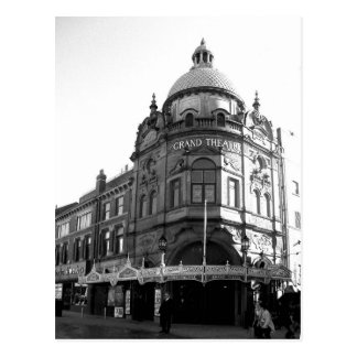 Théâtre grand Blackpool B/W Carte Postale
