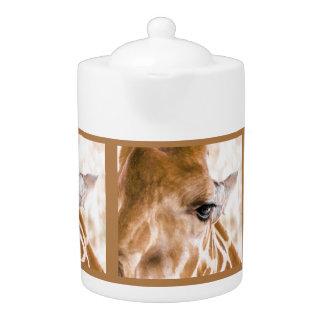 Théière de girafe bonjour