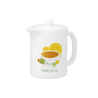 Théière du caractère | de tasse de thé de