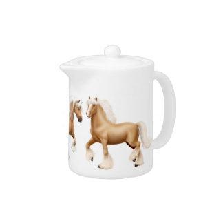 Théière gitane irlandaise de cheval de palomino