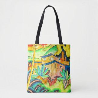 Thème audacieux d'île dans des couleurs tropicales sac