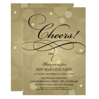 Thème d'acclamations des invitations | Champagne