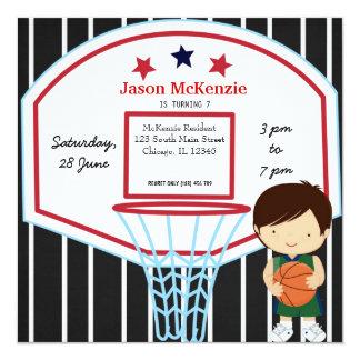 Thème de basket-ball carton d'invitation  13,33 cm