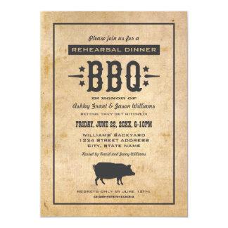 Thème de BBQ de jardin du dîner | de répétition de Carton D'invitation 12,7 Cm X 17,78 Cm