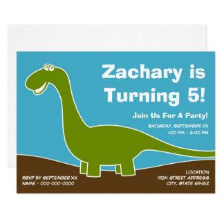 Thème de fête d'anniversaire de dinosaure carton d'invitation  12,7 cm x 17,78 cm