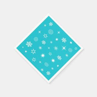 Thème de flocons de neige serviette en papier