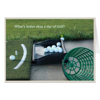 Thème de golf de carte de retraite