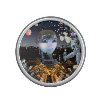 Thème de la science-fiction d'imaginaire haut-parleur bluetooth