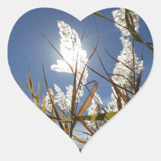 Thème de lumière du soleil d'éblouissement sticker cœur