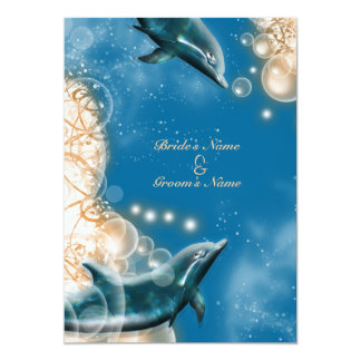 Thème de plage - partie élégante de dauphin de invitations personnalisables