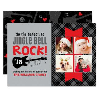 Thème de roche du carte photo | Jingle Bell de Carton D'invitation 12,7 Cm X 17,78 Cm