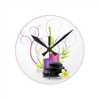 Thème de spa horloge ronde