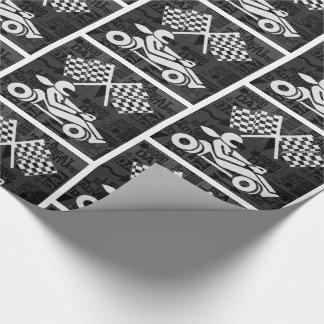 Thème de sports d'emballage automatique noir et papiers cadeaux noël