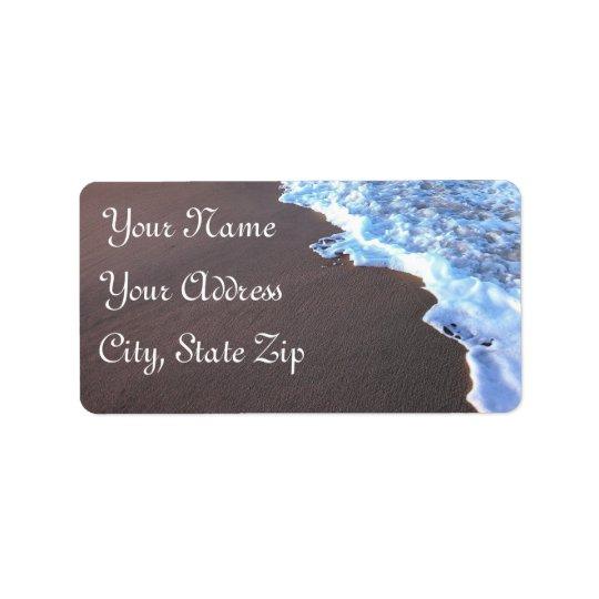 Thème d'océan et de plage étiquettes d'adresse