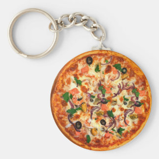 Thème frais de pizza porte-clés