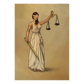 Themis - Madame Justice Carte De Visite Grand Format