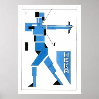 Theo van Doesburg Archer de Stijl Affiche