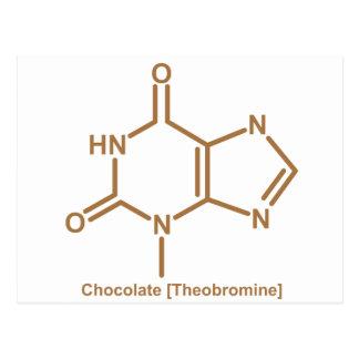 Théobromine de chocolat cartes postales