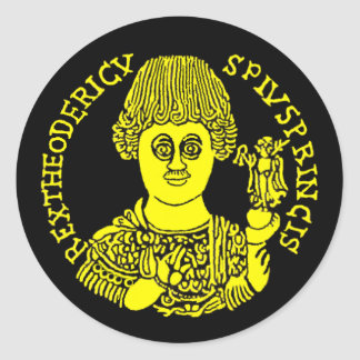 Theoderic le grand sticker rond