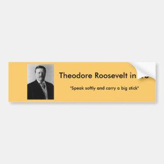 Theodore Roosevelt pour le président Autocollant De Voiture