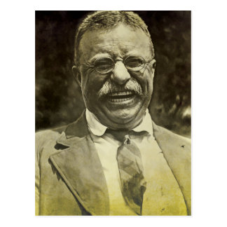 Theodore Roosevelt riant Cartes Postales