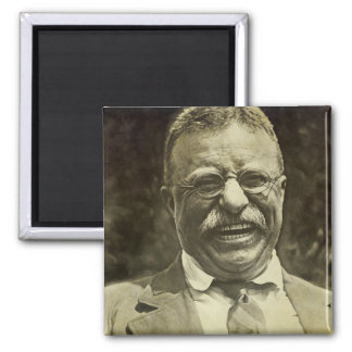 Theodore Roosevelt riant Magnet Carré