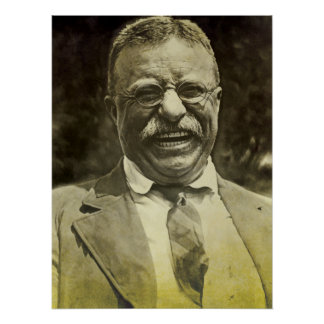 Theodore Roosevelt riant Posters