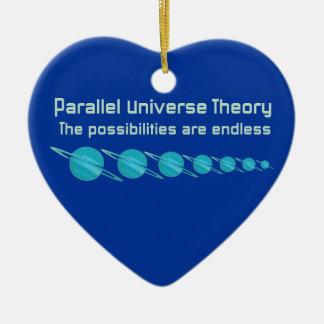 Théorie parallèle d'univers ornement cœur en céramique