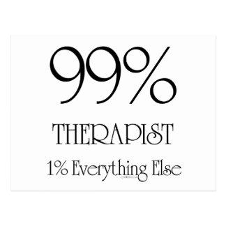 Thérapeute de 99% carte postale