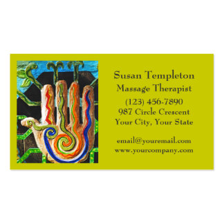 Thérapeute de massage, carrosserie, cartes de visite personnelles