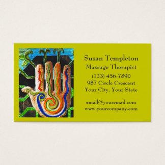 Thérapeute de massage, carrosserie, cartes de visite