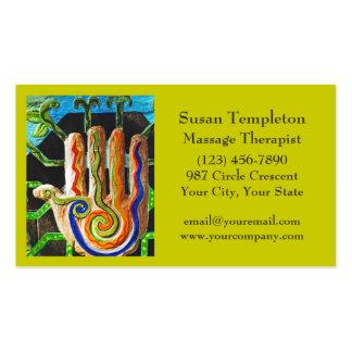 Thérapeute de massage carrosserie réflexothérapi cartes de visite personnelles