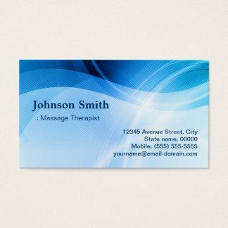 Thérapeute de massage - créatif bleu moderne cartes de visite