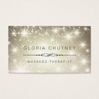 Thérapeute de massage - parties scintillantes de cartes de visite
