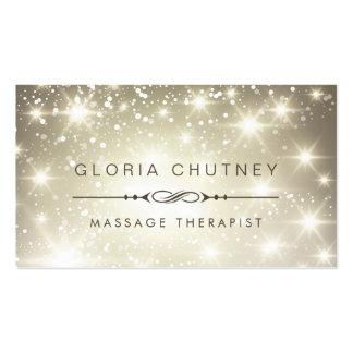 Thérapeute de massage - scintillement de carte de visite standard