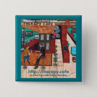 """Thérapie Café 2"""" x 2"""" bouton carré Badges"""