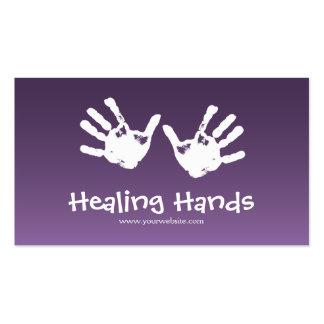 Thérapie de massage - pourpre carte de visite standard