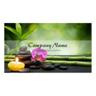Thérapie en bambou de massage de spa d'orchidée de carte de visite standard