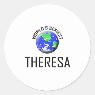 Theresa la plus sexy du monde sticker rond