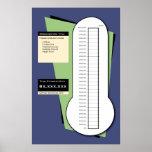 Thermomètre de collecte de fonds comprenant la col posters