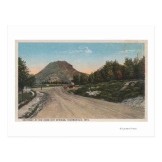Thermopolis, WY - vue d'allée de Big Horn Cartes Postales